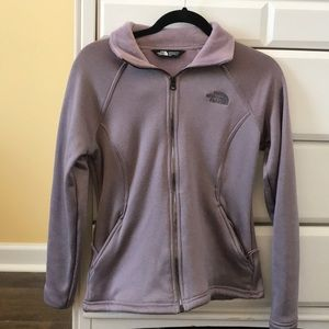 Lilac The North Face zip up
